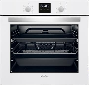 Resim Simfer 7310 Beyaz Dijital 8 Fonksiyon Ankastre Fır