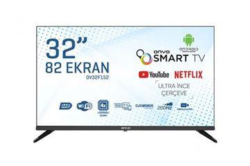 Resim ONVO 32FV152 SMART+UYDU  ULTRA İNCE ÇERÇEVE LED TV